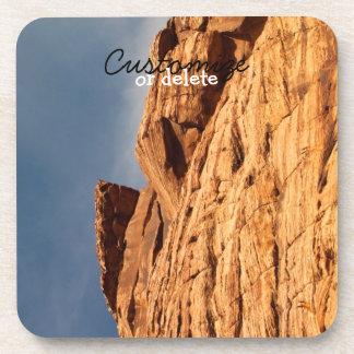 Red Shelf of Rock; Customizable Coaster