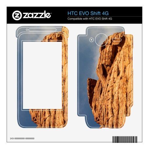 Red Shelf of Rock Skin For HTC EVO Shift 4G