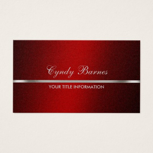 Red Shimmer with Silver Business Card