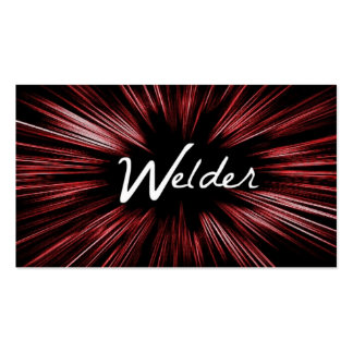 Red Shining Star Welder Business Card