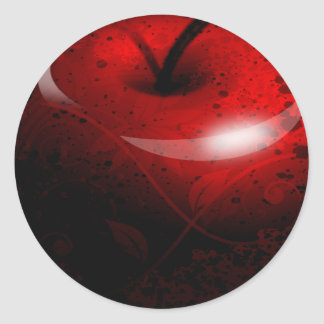 Red Shiny Apple -  Forbidden Fruit Classic Round Sticker