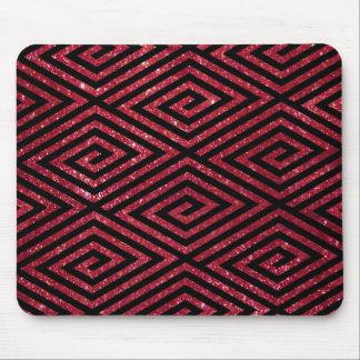 Red Shiny Glitter Black Pattern Mouse Pad