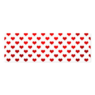 "Red Shiny Hearts White Background ""Polka Dot"" Business Cards"
