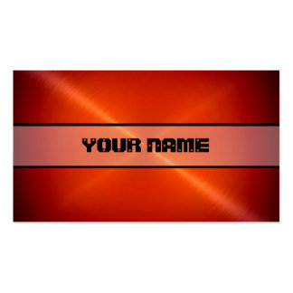 Red Shiny Stainless Steel Metal Double-Sided Standard Business Cards (Pack Of 100)