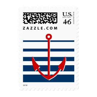 Red ship anchor stamps | Nautical theme