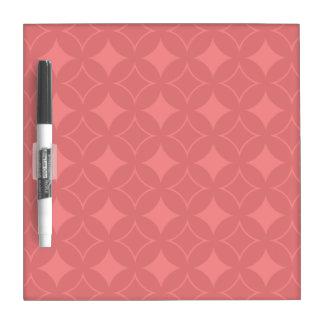 Red shippo pattern dry erase board