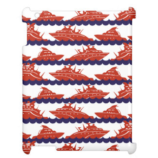 Red Ships on Nautical Blue Waves Case For The iPad 2 3 4