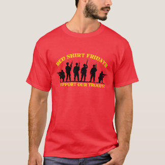 Red friday t shirts shirt designs zazzle for Red support our troops shirts