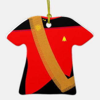Red Shirt Gold Shirt with Sash - Ornament