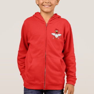 Red Shirt Hoodie Crazy Cartoon Chicken