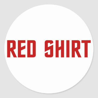 Red Shirt Stickers