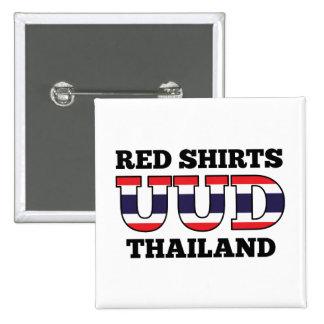 Red Shirts UDD Thailand Pinback Buttons
