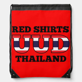 Red Shirts UDD Thailand Drawstring Bags