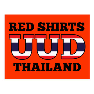 Red Shirts UDD Thailand Postcard