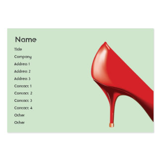 Red Shoe - Chubby Business Cards
