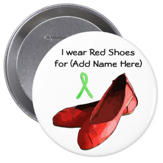 Red Shoe Day Button for Lyme Disease Awareness