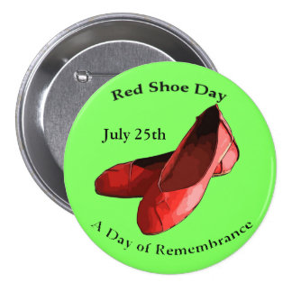 Red Shoe Day, Lyme Awareness Button