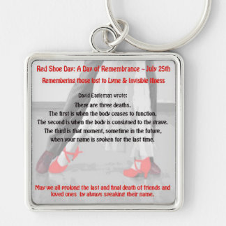 Red Shoe Day Lyme Awareness Key Chain