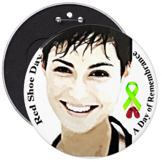 Red Shoe Day, Theda, Lyme Disease Awareness Button