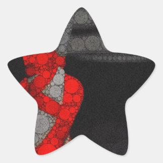 Red Shoe Desires Star Sticker