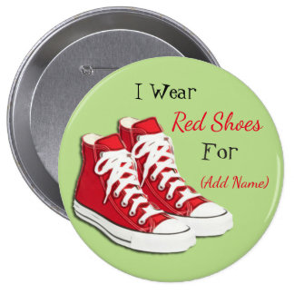 Red Shoe Lyme Disease Awareness Button