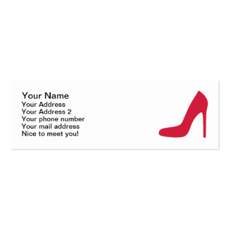 Red Shoe Pumps Business Card