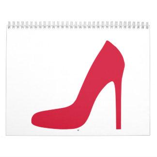 Red Shoe Pumps Calendar