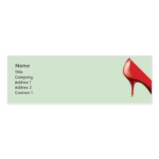 Red Shoe - Skinny Business Cards