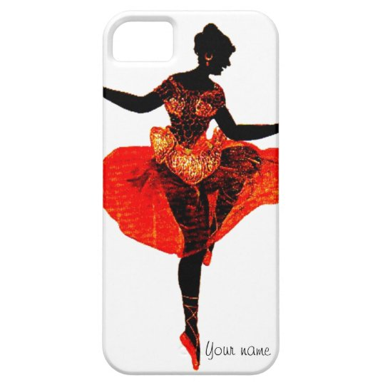 Red Shoes Ballet Dancer Silhouette Iphone Case