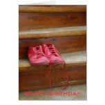 Red shoes birthday cards