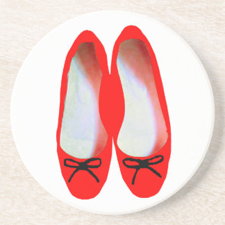 red shoes drink coaster