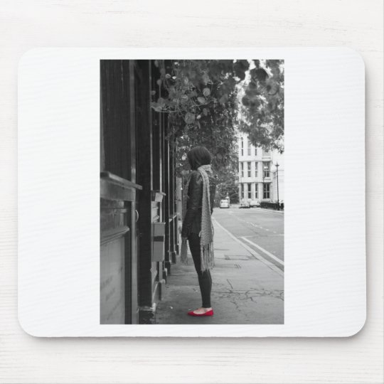 Red Shoes Mouse Pad