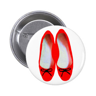 red shoes pinback button