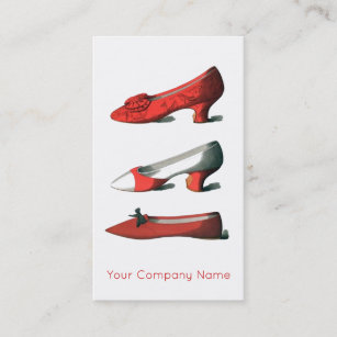 Red Shoes Shoe Design Or Repair Business Card