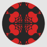Red Shooting Hearts Round Stickers