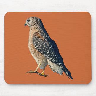 Red Shoulder Hawk Mouse Pad