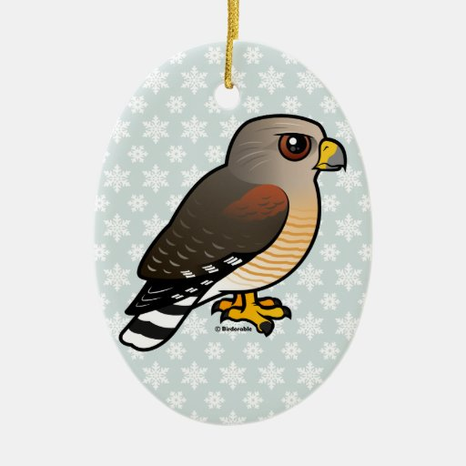 Red-shouldered Hawk Christmas Ornaments