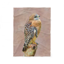 Red-Shouldered Hawk Fleece Blanket