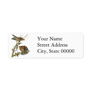 Red-shouldered Hawk, John Audubon Custom Return Address Label
