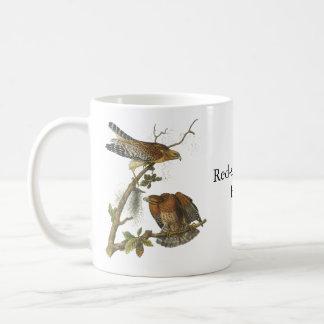 Red-shouldered Hawk, John Audubon Coffee Mugs