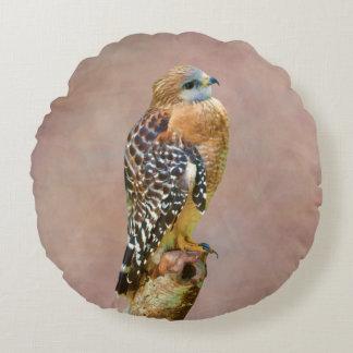 Red-Shouldered Hawk Round Pillow