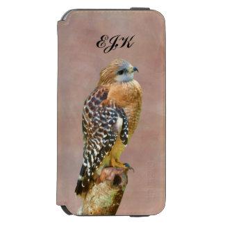 Red-Shouldered Hawk, Monogram iPhone 6/6s Wallet Case
