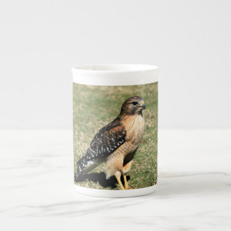 Red Shouldered Hawk on Golf Course Tea Cup