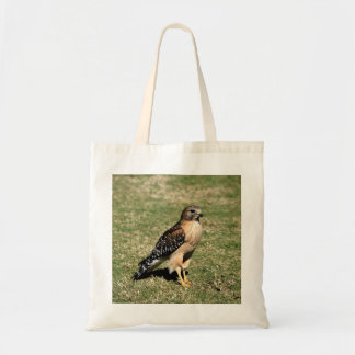 Red Shouldered Hawk on Golf Course Tote Bag