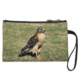 Red Shouldered Hawk on Golf Course Wristlet Wallet