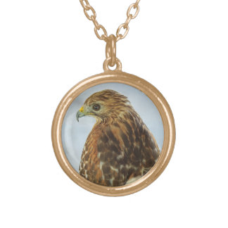 Red-shouldered Hawk photo necklace