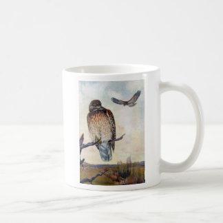 Red-shouldered Hawks Vintage Illustration Coffee Mug