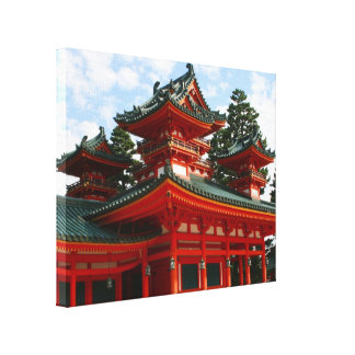 red shrine canvas