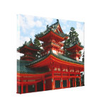 red shrine canvas gallery wrapped canvas
