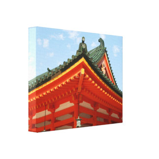 red shrine roof canvas